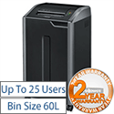 Fellowes 425i Shredder Strip Cut 20 Sheet DIN P-2 60 Litre
