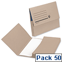Document Wallet 285gsm Foolscap Buff Pack 50 5 Star