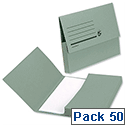 Document Wallet 285gsm Foolscap Green Pack 50 5 Star