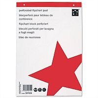 A1 Flipchart Pad Perforated 20 Sheets Plain Pack 5 5 Star