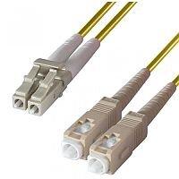 Group Gear 1M Lc-Sc Sm Duplex Fibre Leads Yellow 9-DX-LC-SC-1-YW