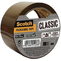 Scotch Classic Packaging Tape 50mm x 50m Brown CL.5050.S.B