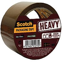 Scotch Heavy Duty Packaging Tape 50mm x 50m Brown HV.5050.S.B