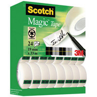 Scotch Magic Tape 19mm x 33m Tower Pack 20+4 Pack XA004815701