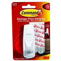 3M Command Adhesive Hook Large White 17003