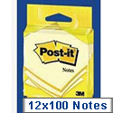 3M Post-it Note 76x76mm Yellow 6820