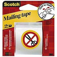 Scotch Clear Hand Tearable Packaging Tape 50mm x 16m