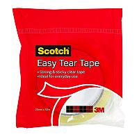 3M Scotch Easy Tear Clear Everyday Tape 24mmx50m Single Roll GT500077224