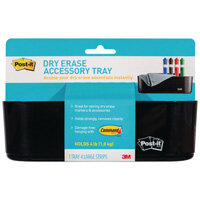 Post-it Dry Erase Black Accessory Tray with 4 Large Command Strips DEFTRAY-EU