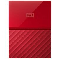 WD My Passport WDBYFT0020BRD External Hard Drive 2 TB USB 3.0 Red