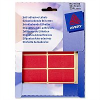 Avery Red Labels Wallet 50x25mm 330 Labels Ref 16-313