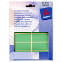 Avery Wallet of Green Labels 50x25mm 16-314 324 Labels