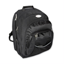 "Black Nylon Backpack with Detachable 17"" Laptop Sleeve Lightpak Advantage"