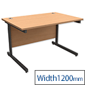 Rectangular Desk Beech W1200mm - Trexus