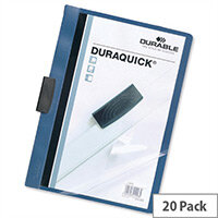 Durable Duraquick A4 Clip Folder PVC 20 Sheets Blue