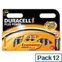 Duracell Plus 1.5V AA Alkaline Battery MN1500B12 Pk 12