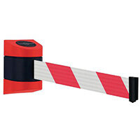 4.6M Magnetic Mounted Unit Red/White Striped Web Tensabarrier