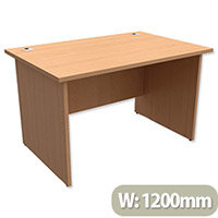 Panel End Desk Rectangular W1200xD800xH725mm Beech Ashford