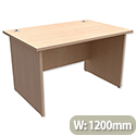 Trexus Classic Office Desk Panelled Rectangular W1200xD800xH725mm Maple