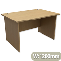 Trexus Classic Office Desk Panelled Rectangular W1200xD800xH725mm Oak