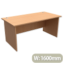 Panel End Desk Rectangular W1600xD800xH725mm Beech Trexus Classic