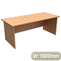 Trexus Classic Office Desk Panelled Rectangular W1800xD800xH725mm Beech