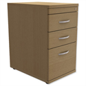 Filing Pedestal Desk-High 3-Drawer 600mm Deep Oak Trexus