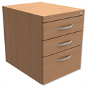 Fixed Pedestal for Cantilever Desk 3-Drawer Beech Trexus