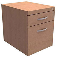 Fixed Filing Pedestal for Cantilever Desk 2-Drawer Beech Trexus