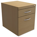 Fixed Filing Pedestal for Cantilever Desk 2-Drawer Urban Oak Kito