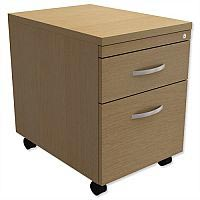 Mobile Filing Pedestal 2-Drawer Urban Oak Kito