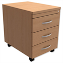 Mobile 3-Drawer Pedestal Beech Trexus