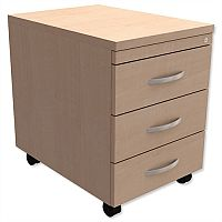 Mobile 3-Drawer Pedestal Maple Kito