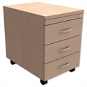 Mobile 3-Drawer Pedestal Maple Trexus