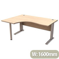 Cantilever Radial Office Desk Left Hand W1600xD1200xH725mm Maple Komo