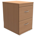 2-Drawer Wooden Filing Cabinet in Beech Height 720mm Trexus