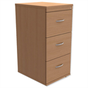 Filing Cabinet 3-Drawer Beech Height 1020mm Trexus