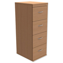 Filing Cabinet 4-Drawer Beech Height 1320mm Trexus