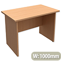 Trexus Classic Rectangular Return Desk Panelled W1000xD600xH725mm Beech