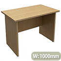 Trexus Classic Rectangular Return Desk Panelled W1000xD600xH725mm Oak