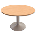 Trexus Meeting Table Round Pillar-base H725xDia1200mm Beech
