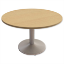 Trexus Meeting Table Round Pillar-base H725xDia1200mm Oak