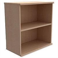 Kito Low Bookcase With Adjustable Shelves & Floor-leveller Feet W800xD420xH770mm Maple