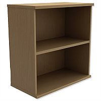 Kito Low Bookcase With Adjustable Shelves & Floor-leveller Feet W800xD420xH770mm Urban Oak