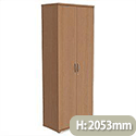 Trexus Tall Cupboard with Lockable Doors W800xD420xH2053mm Beech