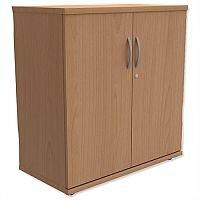 Trexus Low Cupboard with Lockable Doors W800xD420xH853mm Beech