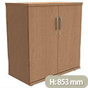 Trexus Low Cupboard with Lockable Doors W800xD420xH853mm Beech