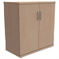 Low Cupboard with Lockable Doors W800xD420xH770mm Maple Kito