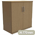 Low Cupboard with Lockable Doors W800xD420xH770mm Urban Oak Kito