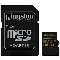 Kingston Gold microSDHC Flash Memory Card 32 GB UHS-I U3 / Class10 Up to 90 MB/s with Adapter